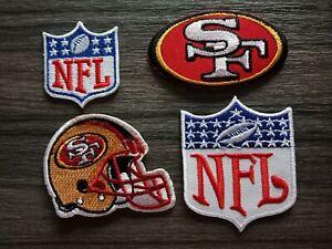 Détails sur 4 pcs Patch SAN FRANCISCO 49ERS équipe de football brodé fer ou coudre sur chemise afficher le titre d'origine