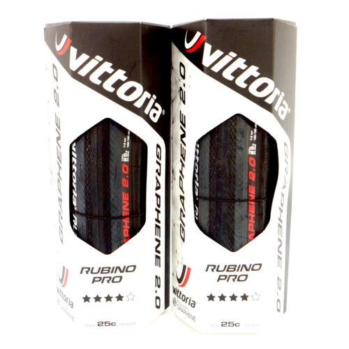 Vittoria Rubino Pro G2.0 Road Clincher Tire 700x25C Full Black 1 Tire or 2 Tire