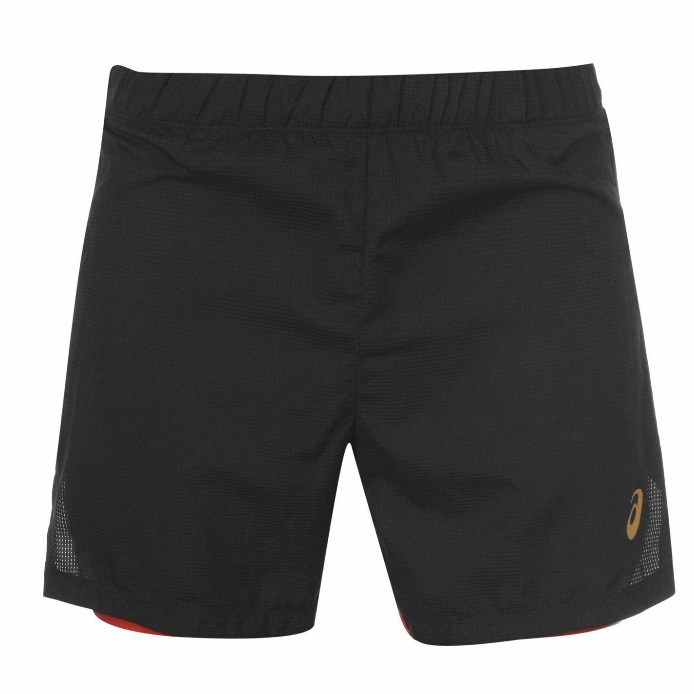 Asics Cool 2IN1 Sht para hombre Pantalones cortos de rendimiento Caballeros Pantalones Pantalones