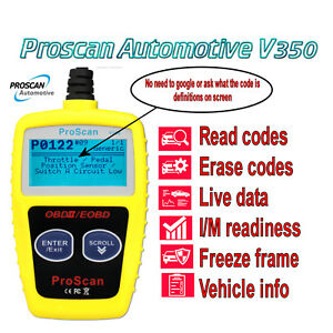 Details about Universal OBD2 Fault Code Scanner CAR Diagnostic Reader  Energy Check