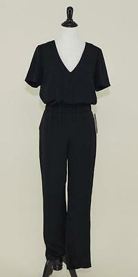 NWT J.CREW COLLECTION $225 ONE-PIECE JUMPSUIT 00 BLACK SHORT SLEEVE A5414