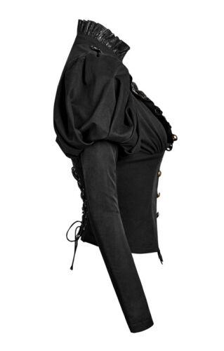 Chemise cintré gothique lolita steampunk victorien jabot rivet corset Punkrave N