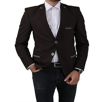 Slim Fit Herren Sakko in Braun-Herrenanzug-Anzug-Hochzeit-Bühne-Sakko