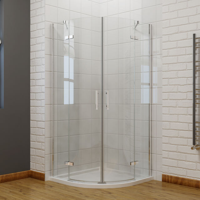 Frameless Hinged Pivot Shower Door Enclosure And Tray Waset Glass