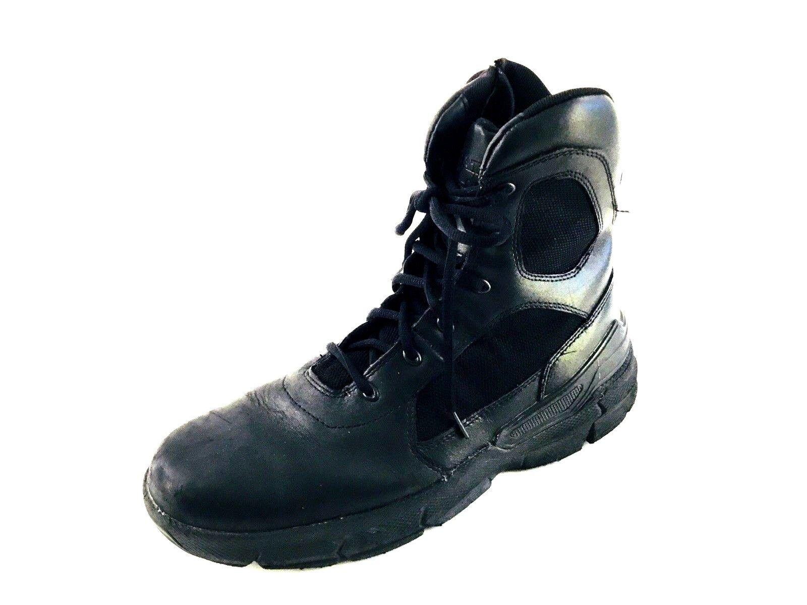 Bates Mens Black Uniform Boots 61225 size 12 Leather Nylon Police Security