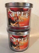 RUE 21 APPLE CIDER 14.5 oz 3 wick candle X2 BRAND NEW. DENTS ON LID