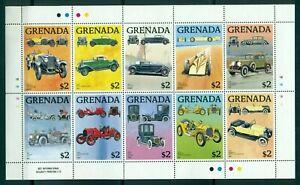 GRENADA-1988-3-M-Sheets-each-10-stamps-MNH-Automobiles-Mi-No-1754-83KB