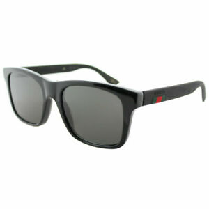 49907982d1 Image is loading New-Authentic-Gucci-GG0008S-002-Black-Plastic-Sunglasses-