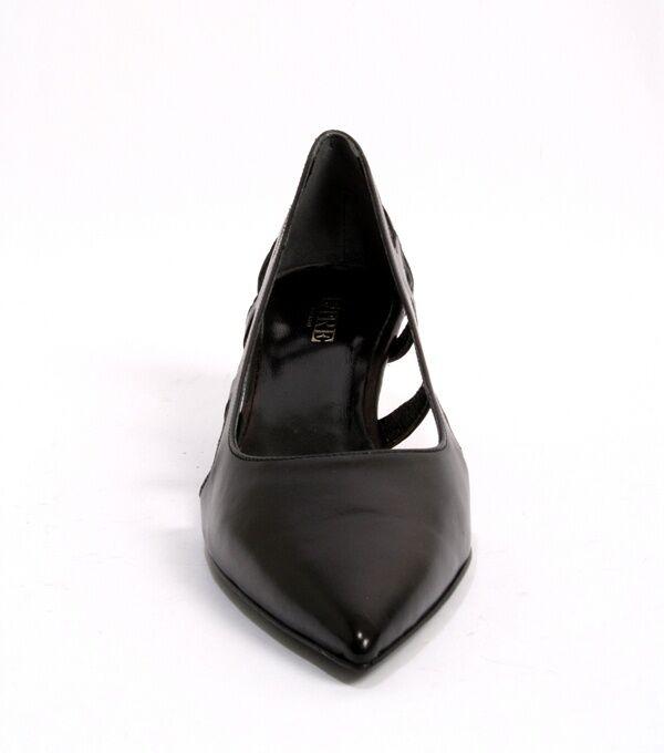 Etre Etre Etre 5073c Black   Side Cutouts   Pointy-Toe Leather Pumps 41   US 11 312fd1
