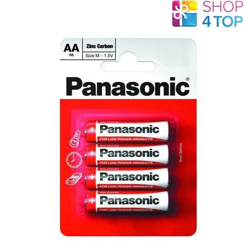 4 panasonic zinc carbon aa lr6 Batteries Blister mignon 1.5v mn1500 new