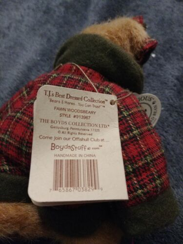 Fawn Woodsbeary The Boyds Collection Plush Bear