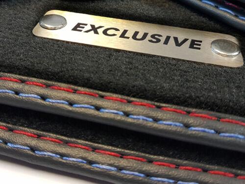 Exclusive Fußmatten für BMW Z3 E36 Original Qualität Velours Metal Logo Matten