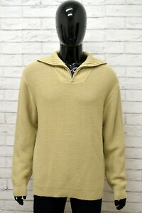 Maglione-Uomo-AVIREX-Taglia-Size-XL-Maglia-Felpa-Pullover-Sweater-Man-Lana-Beige