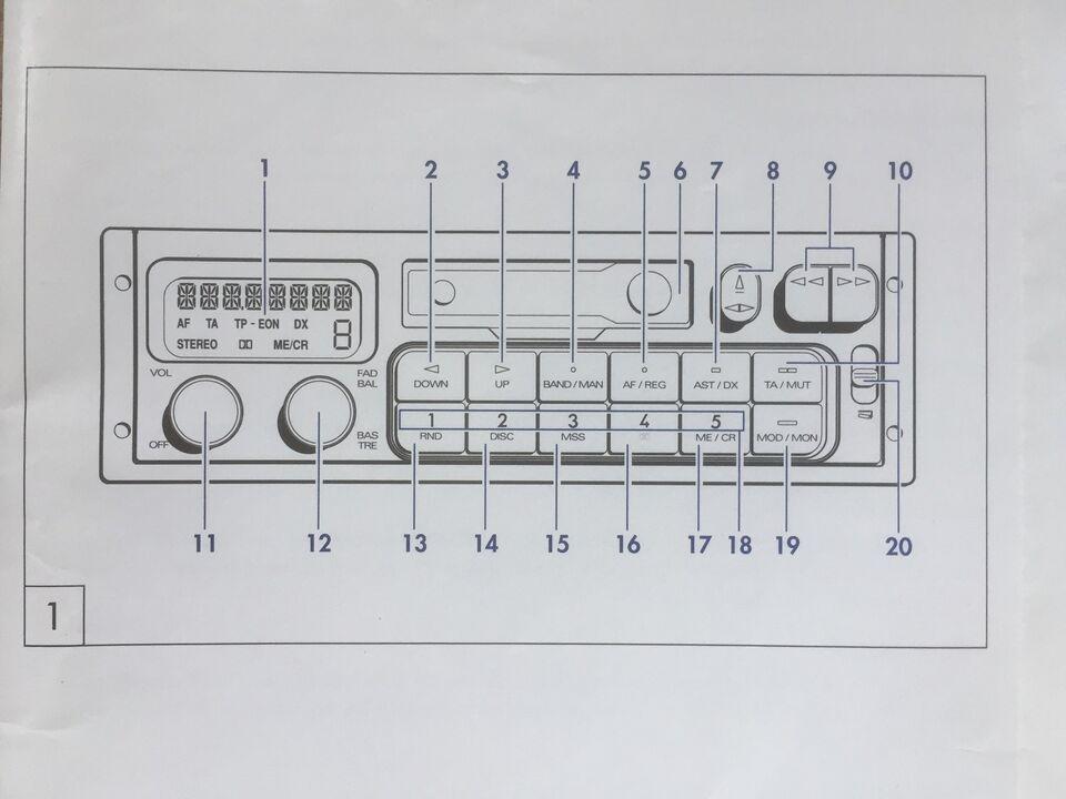 andet mærke Manual til FIAT - 1993, Kassette/Radio