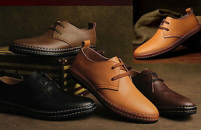 2015 NEW European Style Genuine Leather Shoes Men's Oxfords Casual Dress Shoes