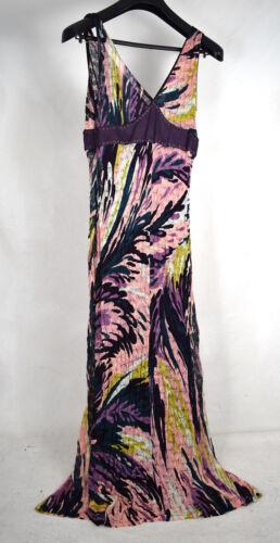 Missoni Dress Purple Pink Knit Sleeveless Maxi Sli