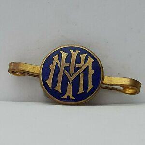 MHI-HIM-IHM-unknown-association-Bar-Brooch-badge-enamel-40-19mm-by-Loius-Strand