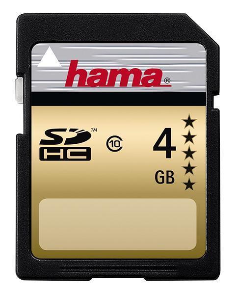 Hama or Carte SDHC 4GB Classe 10 Vierge et Mémoire Mémoire Flash, Hama