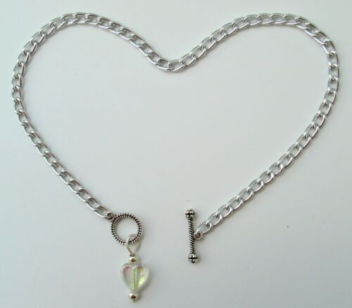 Style /& Size Choice NICKEL FREE silver aluminum ankle bracelet w// toggle pendant
