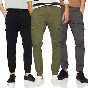 Jack /& Jones Cargo Hose Männer Cargohose Herren slim fit schwarz oder grün lang