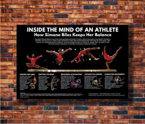 American Gymnast 2016 Rio Olympic Art Print T1498 36 Silk Poster Simone Biles