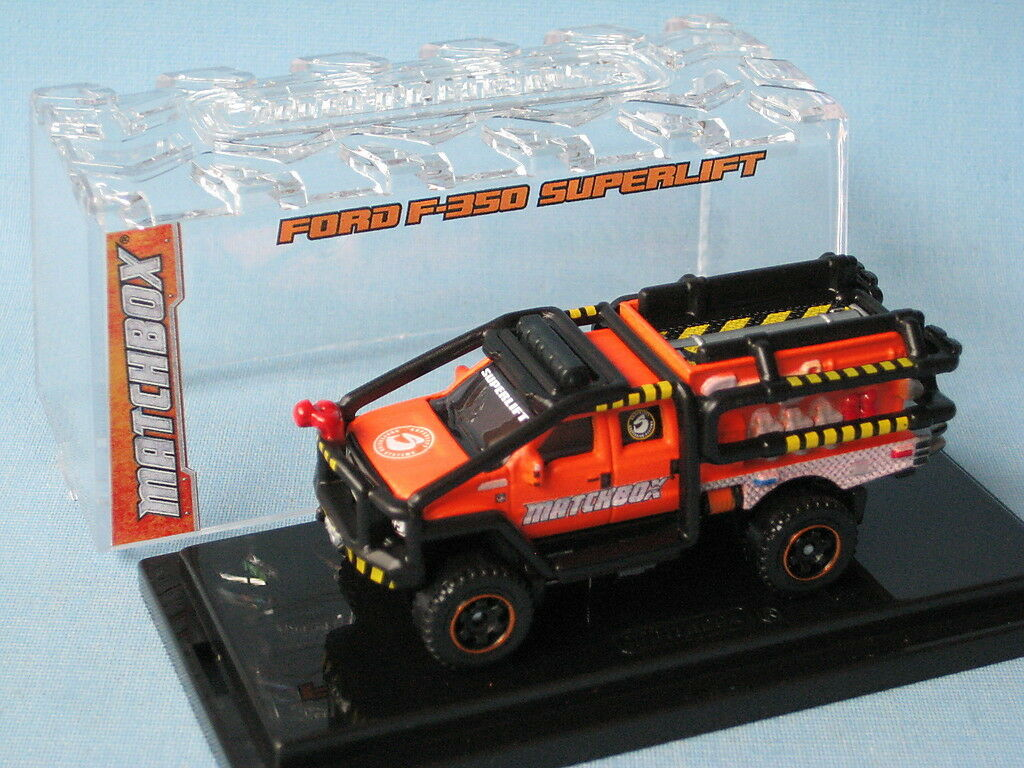 Matchbox Ford F-350 Superlift orange Body 2012 Sema Show Rare
