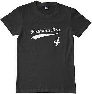 Threadrock Kids Birthday Boy 4 year old Youth Long Sleeve T-shirt happy 4th four