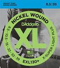 3 X D'Addario EXL130 8.5-39 Extra Super Light Plus Electric Guitar Strings