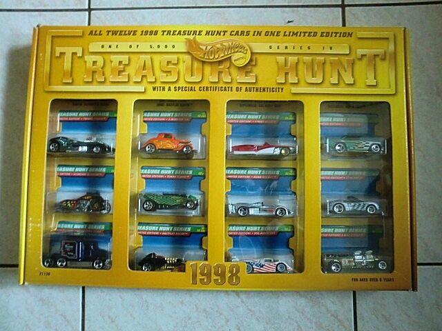 Hot wheels schatzsuche set hw 1998 limited edition - 98 t-hunts