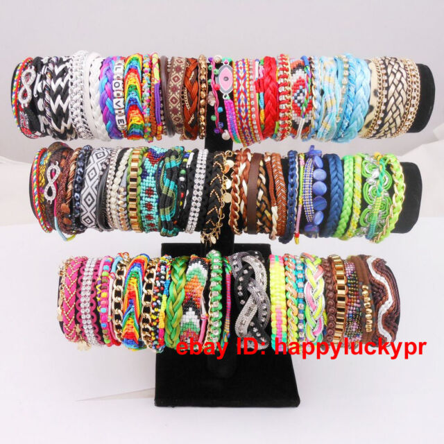 Handmade Braided Women Men Brazilian Style Colorful Bracelet with Magnetic Clasp