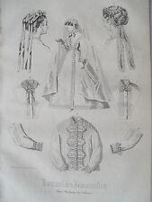 1i82 Gravure de mode 1867 journal des demoiselles