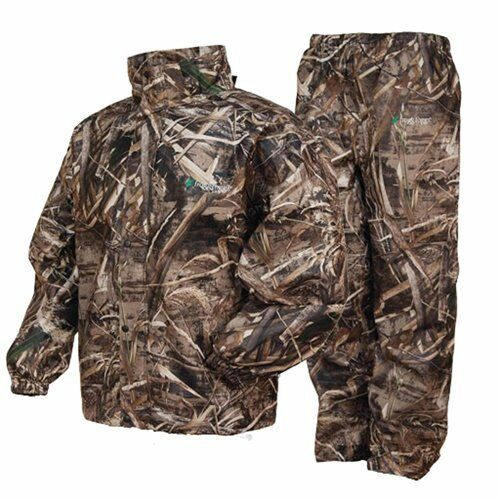 Frogg Toggs All Sports Camo Rain Suit Realtree Max5 Gear Wear Sport Hunting Coat