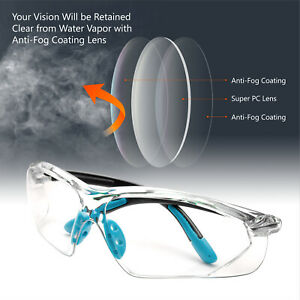 Safeyear-Safety-Glasses-HD-Clear-Lens-Anti-fog-Anti-scratch-UV-Blue-Soft-Temple