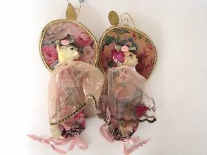 Katherine-039-s-Collection-Set-2-Shabby-Rose-Cat-Candy-Bags