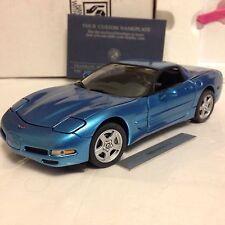 1/24 Franklin Mint Nassau Blue 1999 Corvette  B11ZD51 Chevrolet