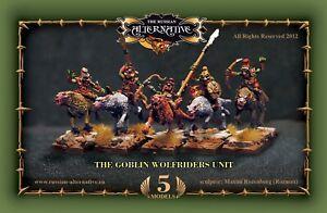 Goblin Wolfriders Unit  RESIN