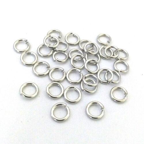 LOT de 150 ANNEAUX connecteurs COSTAUD EPAIS 6 x 1mm ARGENTE foncé perles