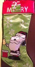 item 3 peanuts snoopy christmas stocking santa snoopy be merry 19 new 2016 peanuts snoopy christmas stocking santa snoopy be merry 19 new 2016 - Snoopy Christmas Stocking