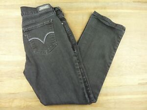 9bf3081ecf1 Levis 505 Jeans Womens Size 29 x 30 Straight Leg Black Denim Jeans ...