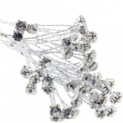 5mm Diamante Branch Silver (x 18 stems) Wedding Craft