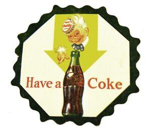 Vintage-Coca-Cola-Coke-USA-Bierdeckel-Untersetzer-Coaster-Flasche-Junge-Motiv