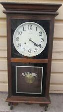 00001 ANSONIA REGULATOR Wall Clock Model #465 Mahogany Case
