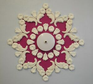 Ceiling rose//design plaster home décor Victorian style.