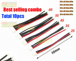 10Pcs-Lot-JST-XH-Connector-2-6S-Balance-Charger-Silicone-Cable-Wire-Adapter-Plug