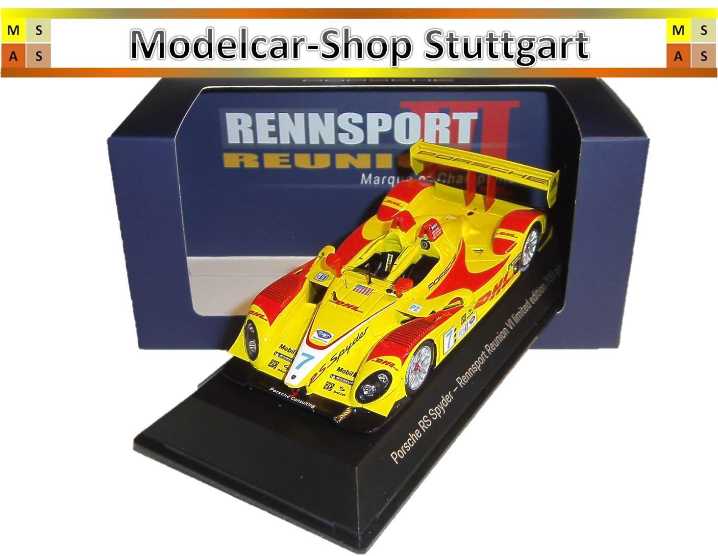 Porsche Rs Spyder  Racing Reunion Vi Spark 1 43 Édition Limitée MAP02014018  haute qualité