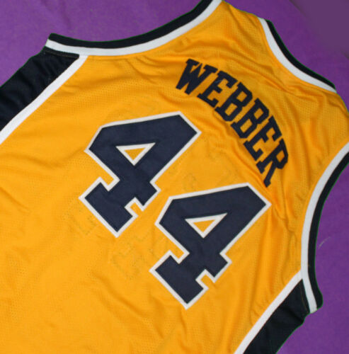 CHRIS WEBBER #44 COUNTRY DAY HIGH SCHOOL JERSEY YELLOW NEW SEWN ANY SIZE