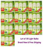 Lot Of 30 Feit Electronic Ecobulb 40w Extra Bright Cfl Bulb E26 (u.s. Standard)