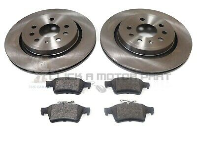 VAUXHALL VECTRA C 02-08 REAR 2 BRAKE DISCS /& PADS SET VENTED ONLY NOT SOLID