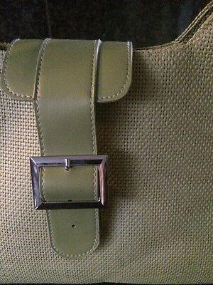 Tasche grün Bast Leder, neu