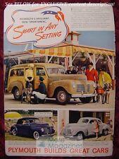 PLYMOUTH Sportsmen automobile ad 1940